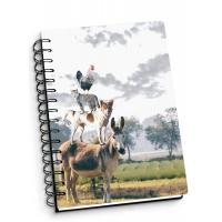 Best Depth Effect A4 A5 A6 3D Lenticular Notebook For Student Stationery Eco-friendly wholesale