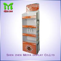 Best Waterproof cardboard corrugated display stand for beer with 4 tiers wholesale