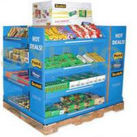 Best 4 Tiers / Sides Cardboard Display Stand For Snack Promotion , Matte Lamination wholesale