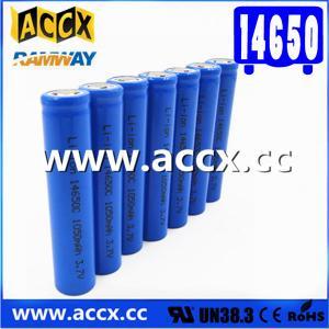Cheap cordless telephone battery ICR14650 3.7V 1050mAh li-ion batteries 14650, 14500, 18500, 18650, 26650 for led light for sale