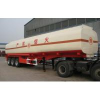 China Carbon Steel Insulated Asphalt Tank Trailer , Petroleum Tank Trailers on sale