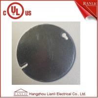 Cheap Steel Round Electrical Outlet Covers , 0.80mm to 1.60mm Thickness for sale