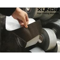 China Geotextile backed Polypropylene Fiber Woven Tape , protective pipeline coating bituminous tape on sale