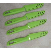 China Promotion knife 4.5 knife blade with protect sleeve green color hot sell knife 420J2 knife blade on sale