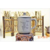 Best Personalized Yixing Zisha Teapot Handmade Purple Clay Tea Cup Black Color wholesale