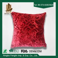 Best Red Color Festival 45x45 Bedroom Decorative Pillow Covers For Household wholesale