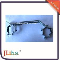 Quality Bracket R588 Galvanized Pipe Clamps Double Range With EPDM Rubber Two Two Pack wholesale