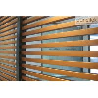 Best Interior / Exterior Ceramic Wall Cladding , Decorative Terracotta Baguette Louver wholesale