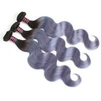 Best 7A Virgin Brazilian Hair 1B / Grey Ombre Human Hair Extensions Body Wave wholesale