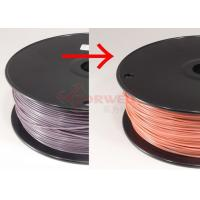 Cheap ABS 3MM Color Changed 3D Printing Filament Purple To Pink By Temperature , RoHs SGS for sale