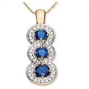 Best Blue Sapphire & Diamond Pendant wholesale