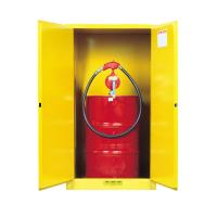 Best Flame Proof 2 Door Drum Storage Cabinets 60 Gallon For Chemical Liquid wholesale