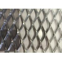 Best Heavy Decoration Expanded Metal Wire Mesh , Steel Diamond Mesh 0 . 8 MM Thickness wholesale