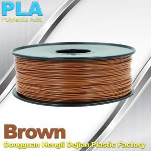 Best Brown PLA Filament Makerbot 3D Printer Materials  1kg  / spool wholesale