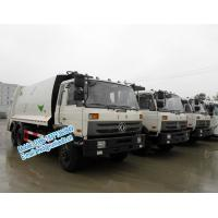 Best Strong compressive force white color Dongfeng 6x4 11ton 16 - 18m3 garbage compactor truck with self loading at rear wholesale