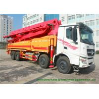 Cheap Beiben V3 35m -51m Mini Concrete Pump Truck , Truck Mounted Concrete Pump for sale