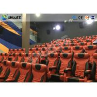 Best Large Mobile 4D Movie Theater Equipment  , Motion Chairs With Comfortable Headrest And Cup Saucer wholesale