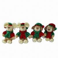 Best Christmas Toys with 2 Assortments in Mouse and Dog Shapes, Various Designs are Available wholesale