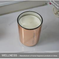Best Room Fragrance Pure Clean Soy Candles ITS Approved With Rose Golden Glass Jar wholesale