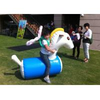 Best Fun Playing Inflatable Sports Toys Safe PVC Tarpaulin Inflatable Horse Racing wholesale