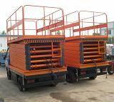 Best New designed 14m Height Mobile Hydraulic Scissor Work Lift Table wholesale