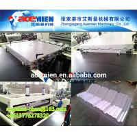 Best Eco-friendly,large capacity,widely used plastic PVC wave roof tile production line wholesale