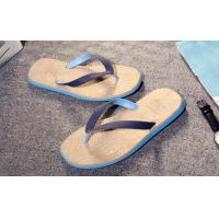 Best Wood Grain Fashion Flip Flops Slip Resistance Mens Thong Slippers Multi Colored wholesale