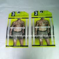 China Thick PE Underwear Resealable Plastic Bags , Clothing Store Sticky Bone Foil Zip Lock Bags on sale