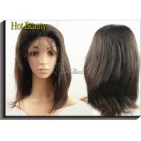 Best Virgin Human Hair Machine Sewing Full Lace Wigs Soft Straight In Stock wholesale