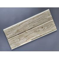 Best Customized Plastic Bathroom PVC Wood Panels , Bathroom Ceiling Cladding Panels wholesale