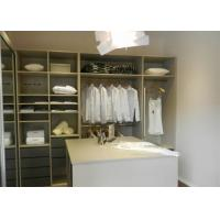 Italian Design Bedroom Walk In Closet Organizers With Soft Closing Drawers