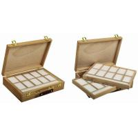 Best Wooden Art Storage Box With Tray , Rectangular Paint Storage Containers 35.5 X 26.5 X 8.6cm wholesale