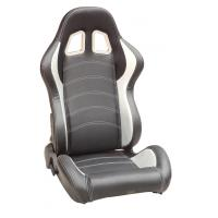 Cheap Sparco Style Leather Racing Sport Auto Car Seats / Black And White Racing Seats for sale