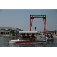 China 6 Seat Rechargeable Pure Electric Powered Boat for River Fishing , 24 V 10 KM/H on sale