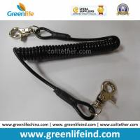 Best Retracted Black Coil Lanyard with Customized Attachments wholesale