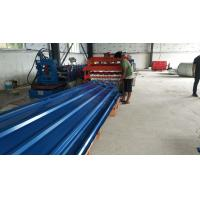 Best Red Sandwich Panel Roll Forming Machine , 14 Steps Type Roof Tile Roll Forming Machine wholesale