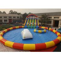 Best Logo Printing Inflatable Water Playground Puncture Resistant Non Stimulative To Skin wholesale