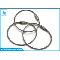 Best Luggage Tag Wire Buckle Cable Loop Key Ring , Stainless Steel Wire Rope Keychain wholesale