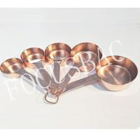 Best Hot sale Copper Stainless Steel Measuring Cups and Spoons Set wholesale wholesale