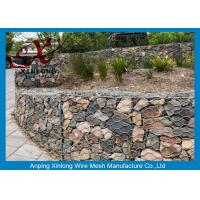 Buy cheap Galvanized Rock Gabion Wire Mesh PVC Coated Gabion Baskets For Riverbed from wholesalers