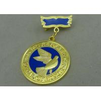 Best 3D Brass Die Stamped Custom Awards Medals Hard Enamel 100mm * 70mm wholesale