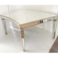 Curved Tempered Glass Dining Table , Contemporary Glass Dining Table For Events