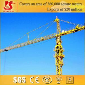 Best 50m jib Telescopic Tower Crane offer tower crane hoist motor wholesale