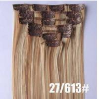 Best Colored Clip In Synthetic Hair Extensions Fake Hair Wigs For White Women wholesale