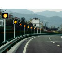 Best Sychronized Solar Blinker Light LED Traffic Signs 12 Hours Flashing wholesale