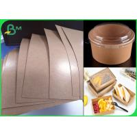 China Food Trays Base Paper Barrier Coatings Kraft Paper Poly Coated 250g + 18gsm on sale