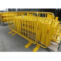Best Retractable Steel Barricades Crowd Control / Metal Pedestrian Barriers For Road Safe wholesale