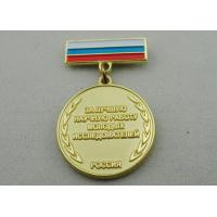 High 3D and High Polishing Brass Stamping Brooch, Custom Awards Medals with Soft Enamel