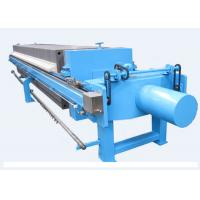 China Auto Hydraulic Plate Frame Filter Press Dewatering Capacity 480L - 1800L on sale