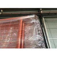 Best Orange Color RAL 2009 POWDER coated Temporary Security Fencing Panels 2.1mx2.4m OD 32mm wall thick 1.40mm wholesale